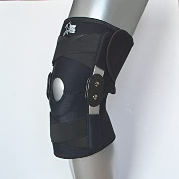 c5f94626f2 Knee Support Twin Hinged – NHS Medical Grade Breathable Open Patella Brace  for Ligament Repair,