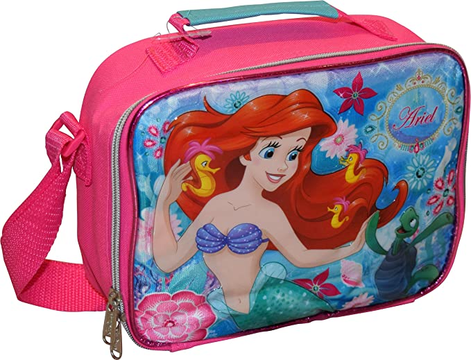 a8bb8892aa6 Image Unavailable. Image not available for. Color  Disney Princess Girl s  The Little Mermaid Ariel Insulated Lunch Box