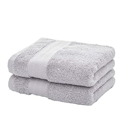 Ultra Soft Cotton Hand Towel ( Grey,2-Pack, 14  x 29 ) - Multipurpose Hand Towels for Bath, Hand, Face, Gym and Spa