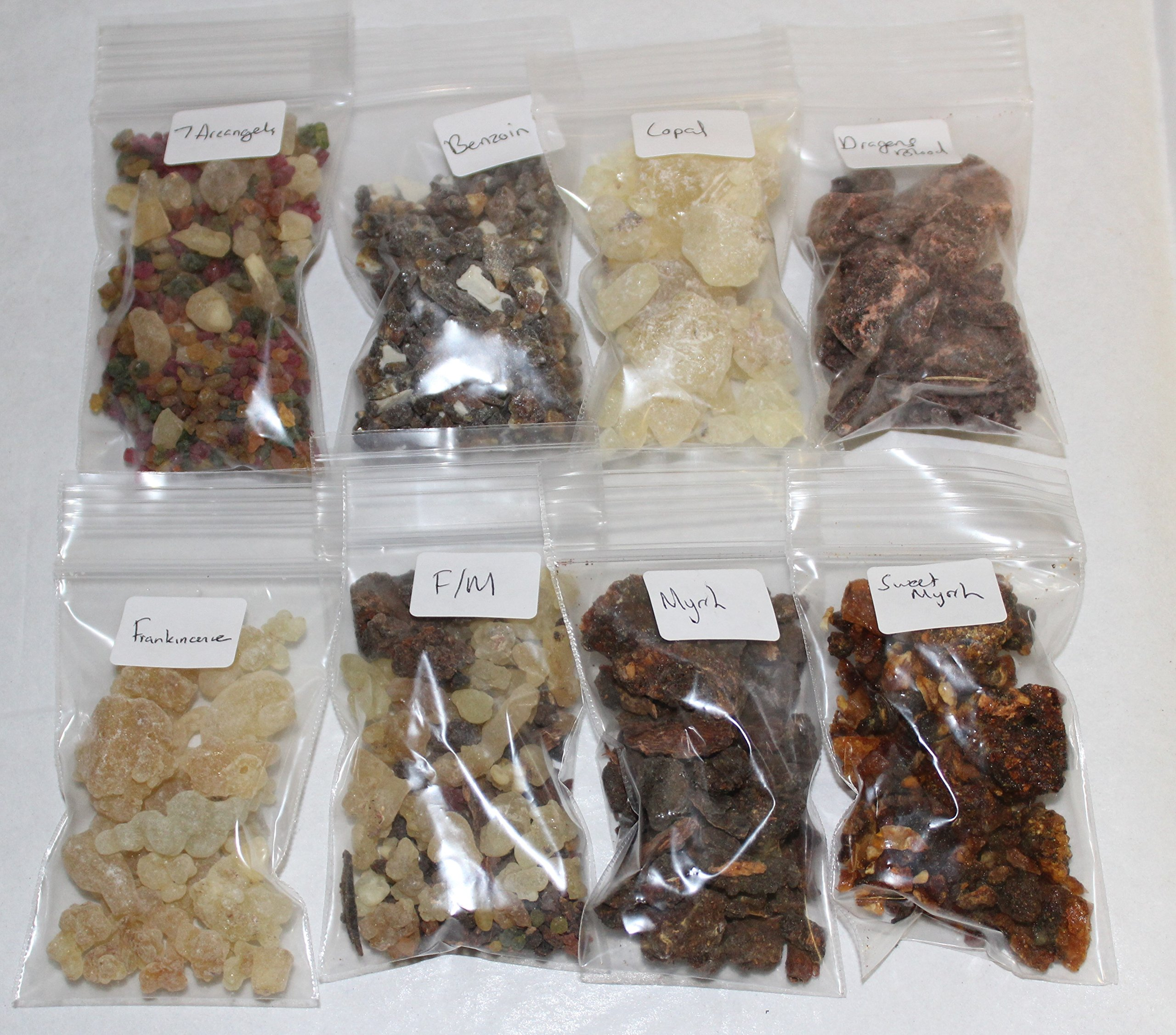 Resin Incense Variety Sampler Set: 8 Fragrances, 8 x 1/2 oz bags by Rainbowrecords239 by Rainbowrecords239