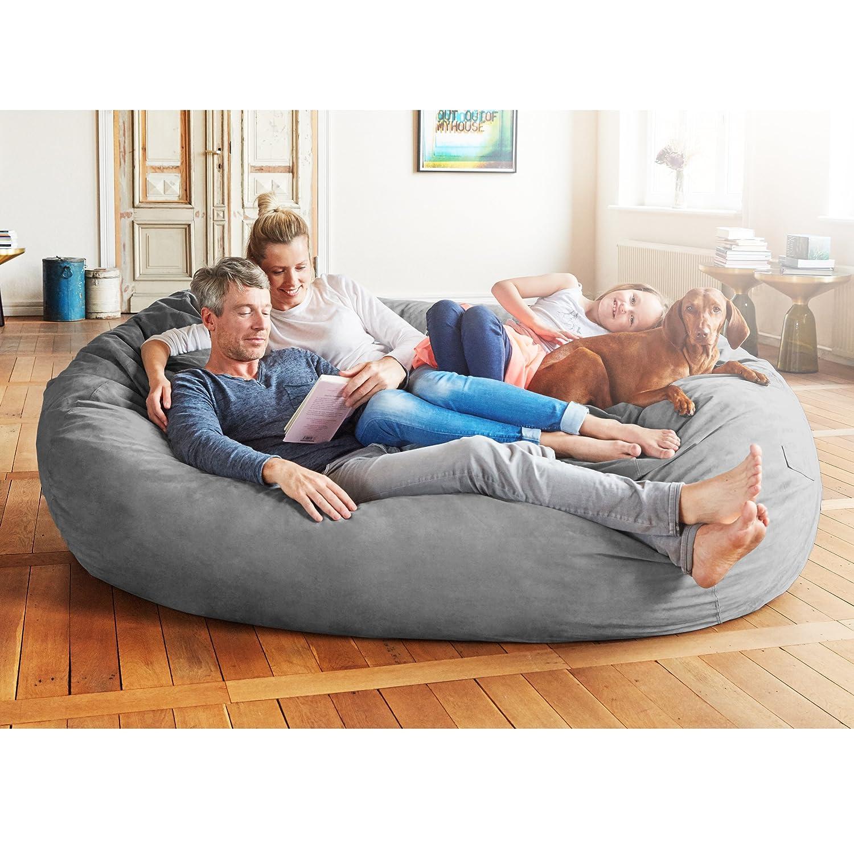 Lumaland Luxury 7-Foot Bean Bag Chair