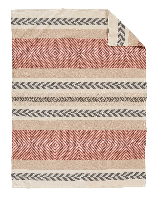 Beige Pendleton Mojave Cotton Jacquard Blanket Queen Size Pendleton Woolen Mills 72557 9853 QUEN