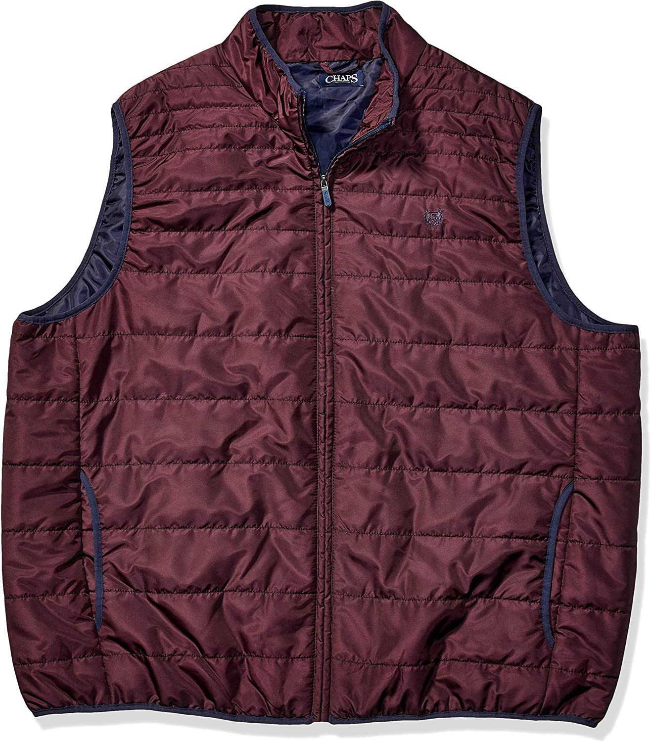 Chaps mens Big and Tall Packable Quilted Vest