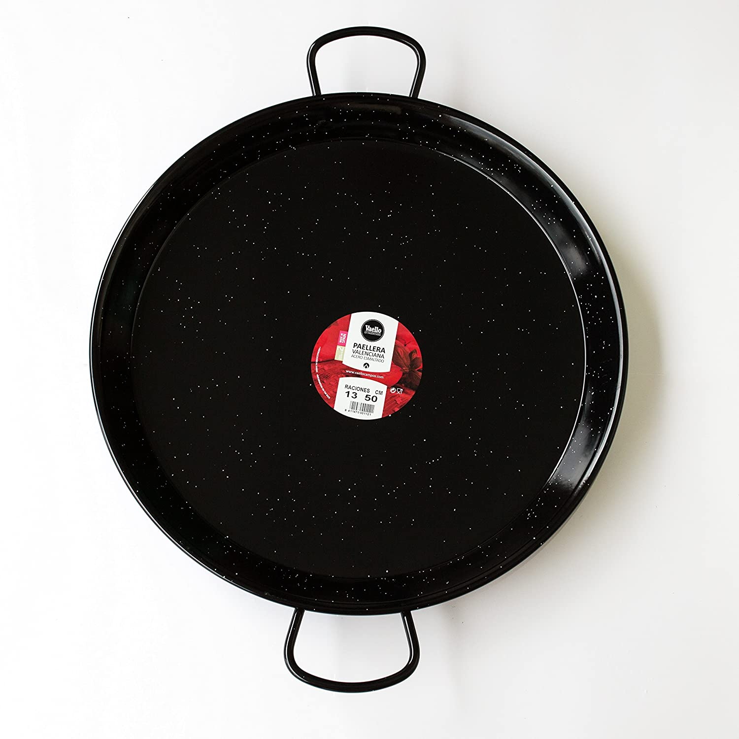 Amazon.com: Paella Pan Enamelled + Paella Gas Burner and Stand Set - Complete Paella Kit for up to 13 Servings (Nonstick): Kitchen & Dining