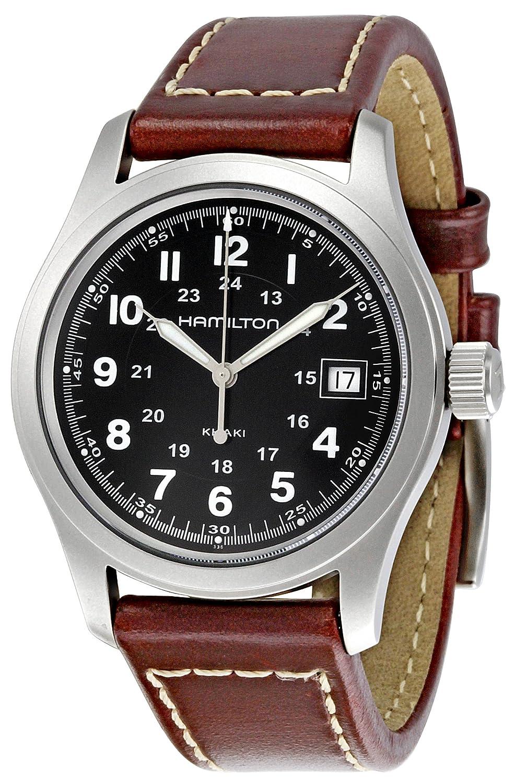 Hamilton Herren-Armbanduhr XL Analog Automatik Leder H39515733