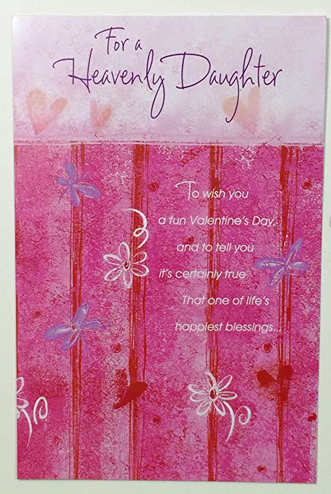Amazon valentine card daughter religiousfor a heavenly valentine card daughter religiousfor a heavenly daughter to wish you a fun valentines m4hsunfo