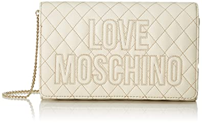 Love Moschino shoulder bag quilted logo platino