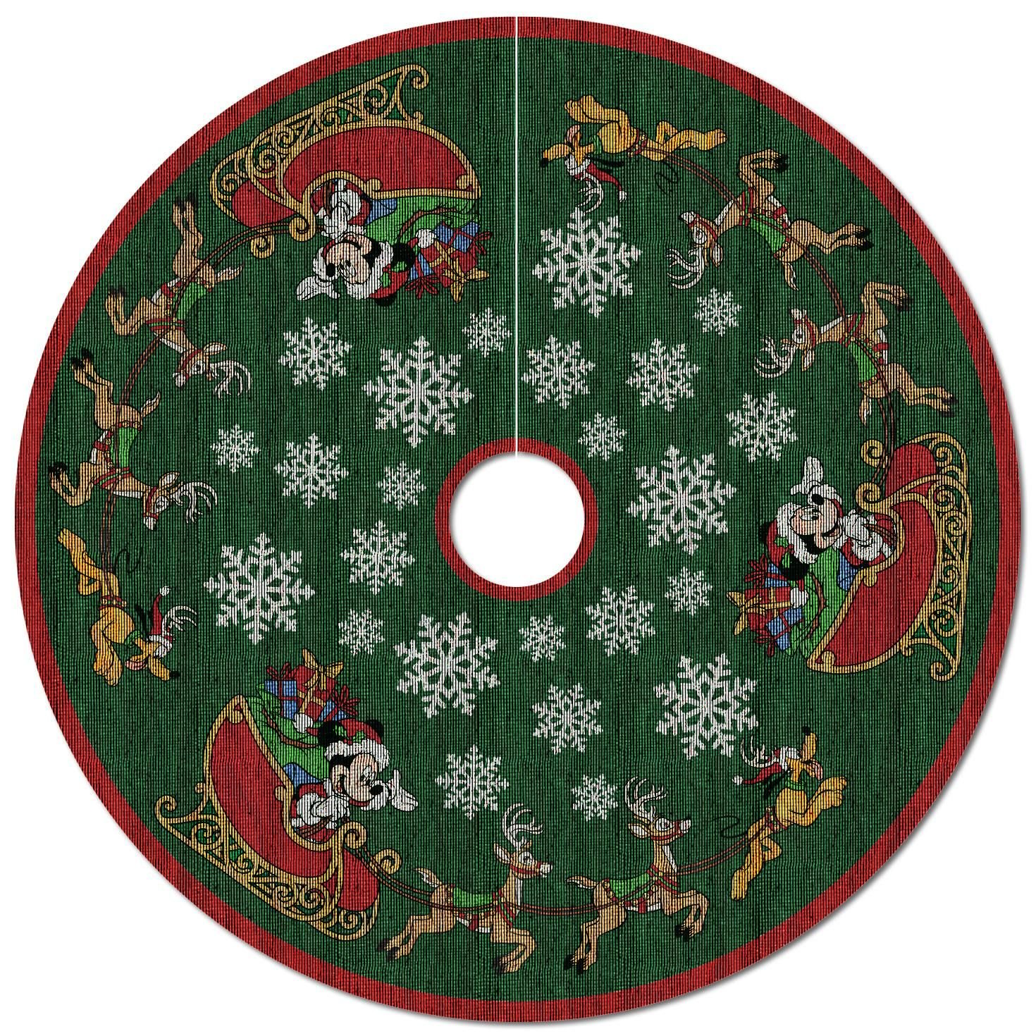 Mickey Mouse Oh, What Fun! Tree Skirt With Light by Hallmark