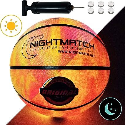 Amazon.com: Nightmatch Light Up Baloncesto - Marble Edition ...