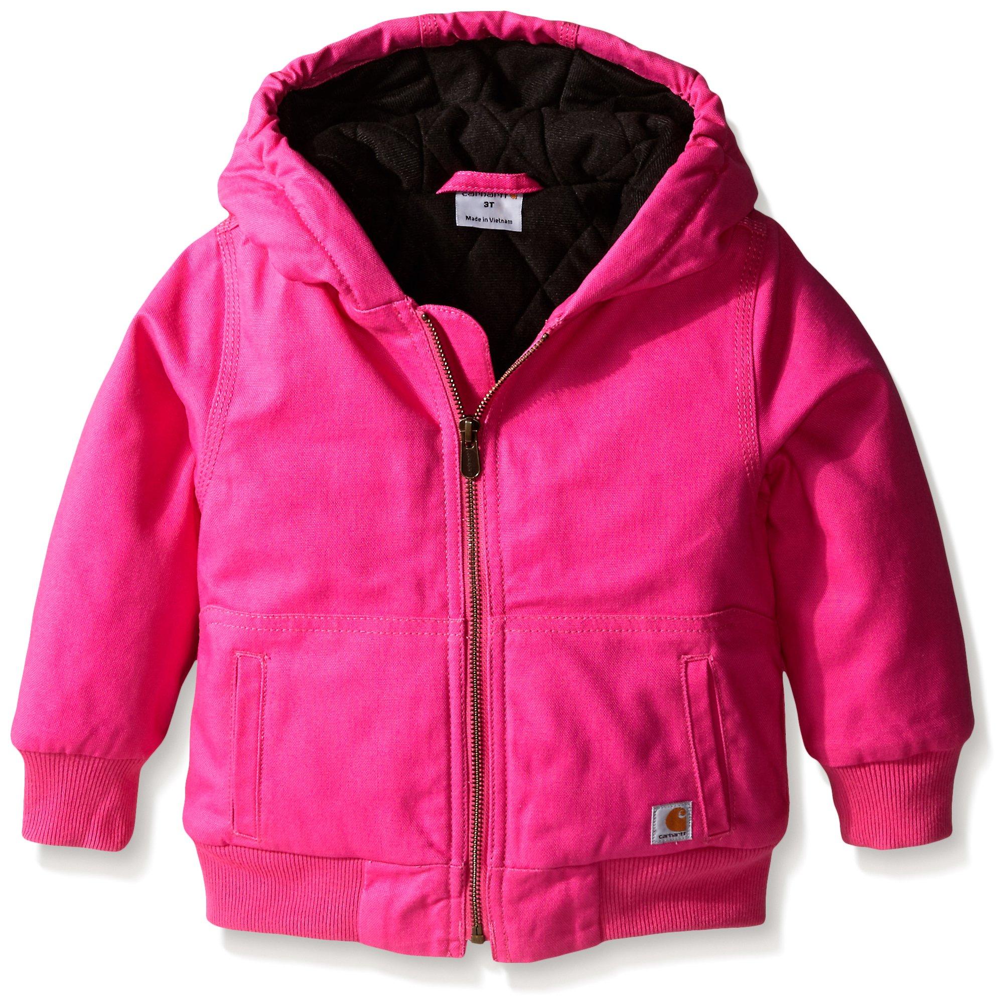 Carhartt Little Girls' Toddler Wildwood Jacket, Raspberry Rose, 3T by Carhartt