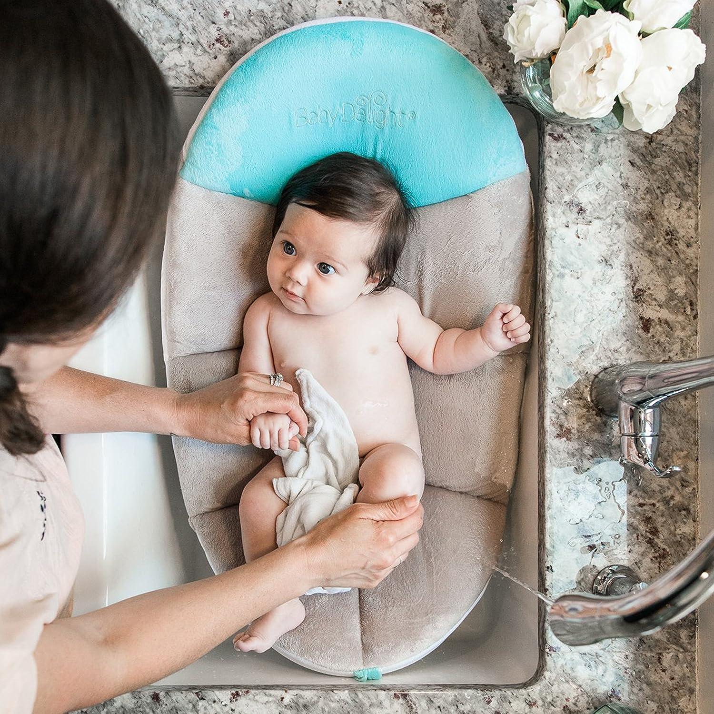 Amazon.com : Cushy Nest Cloud Teal/Grey, Baby Bath Tub, Infant ...