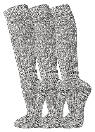 fussfr eunde, 6 pares de calcetines de lana de calcetines (Noruego Noruego) con lana de oveja de TippTexx24, gris: Amazon.es: Deportes y aire libre
