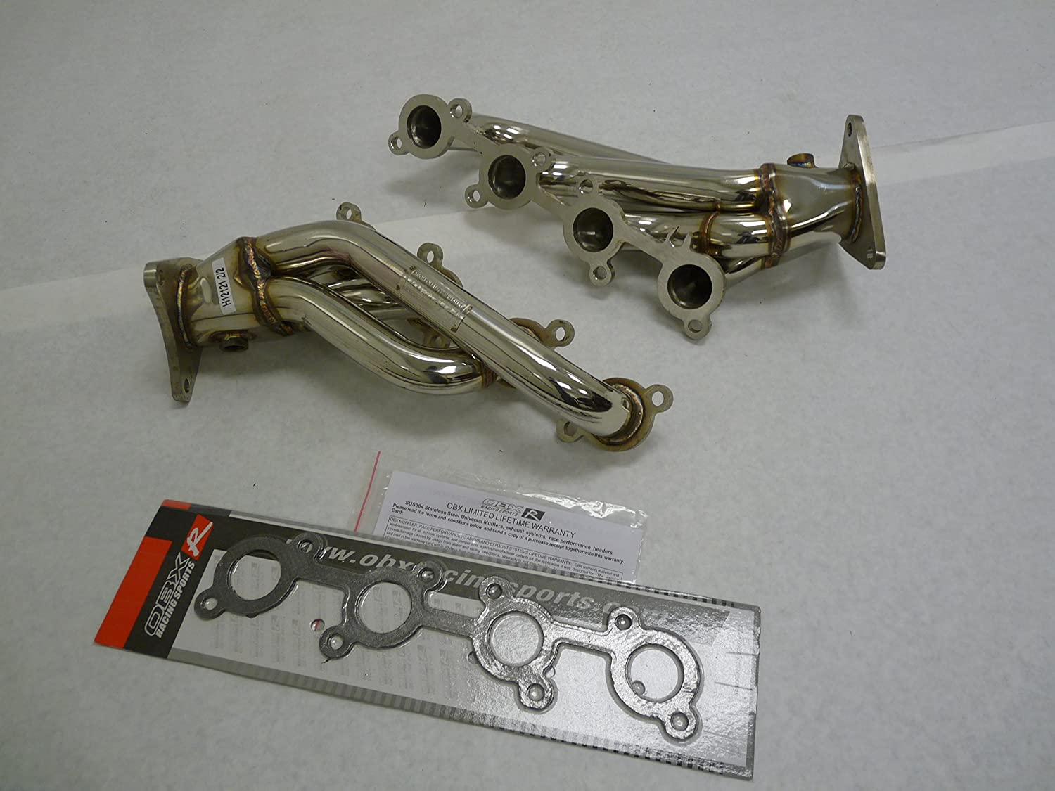 Amazon com: OBX PERFORMANCE STAINLESS STEEL EXHAUST HEADER