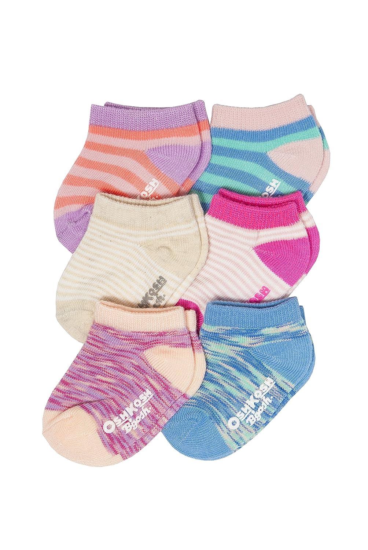 OshKosh B'Gosh SOCKSHOSIERY ベビーガールズ 12-24 Months Stripes/Pink, Blue, White B077NTGFMC