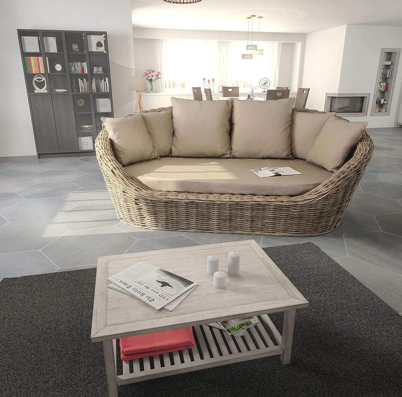 REBAJAS : Sofa tres a cuatro plazas Jaipur marron blanco ...