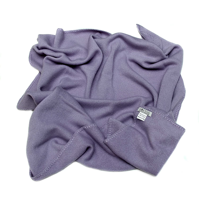 Couverture de bébé de cachemire, 100% cachemire mongol 4 PLY (26/2 fils) Couverture de bébé de cachemire, couverture épaisse de cachemire de bébé d'hiver, Violet