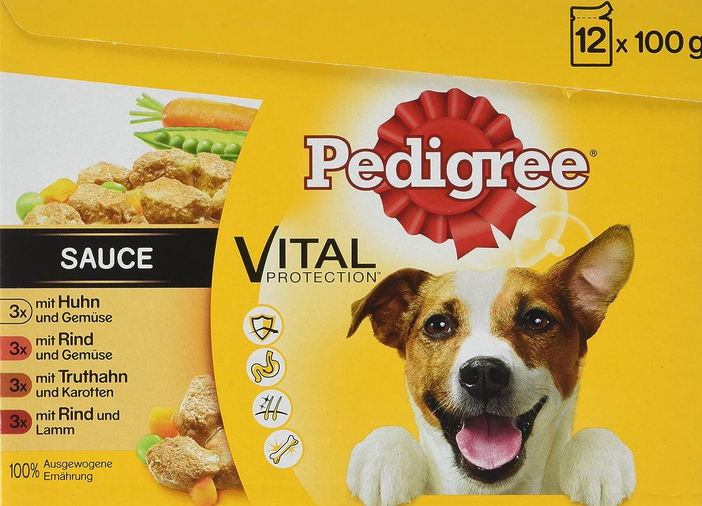 Pedigree Vital Protection Hochwertiges Huhn, Rind und Truthahn, 48 ...