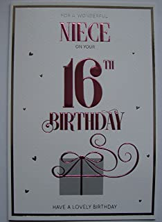 Niece 16th happy birthday card lots of love to the best niece in for a special niece on your 16th birthday bookmarktalkfo Gallery