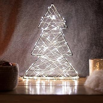 3fb813fc350 SnowEra Luz LED Decorativa de Metal en Forma de Árbol de Color Plata – Árbol  de