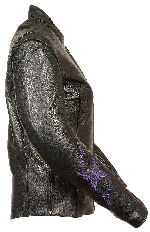 Black//Purple Milwaukee Leather Milwaukee ML2071-4X-BLK//PURPLE Women/'s Leather Jacket 4XL Milwaukee ML2071-4X-BLK//PURPLE Womens Leather Jacket