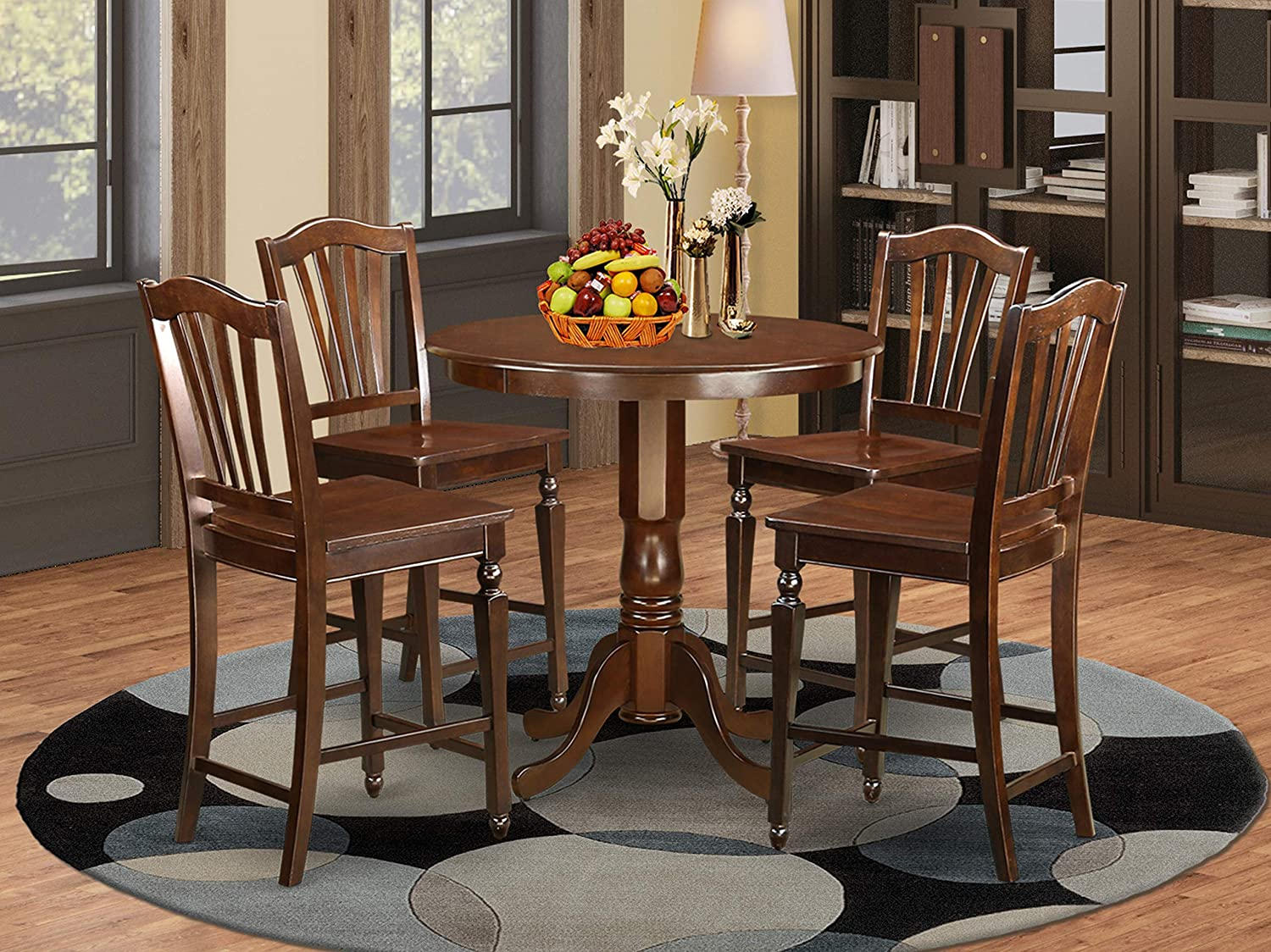5 Pc Dining counter height set - counter height Table and 4 bar stools.