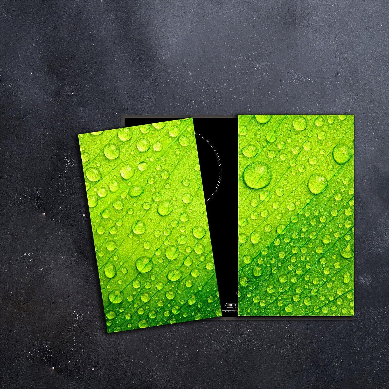 Herdabdeckplatten Ceranfeldabdeckung Spritzschutz Glas 2x30x52 Flaschen
