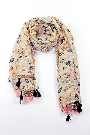 141eed1bdde Grande écharpe foulard douce châle soyeuse en Multi-Couleurs Léger  Printemps Hiver - Aywav