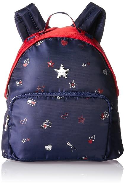 Tommy Hilfiger Kids Poppy Girl Print Backpack Girls Blau