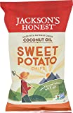 Jackson's Honest Potato Chips, Sweet Potato, Cooked in Natural, Healthy, Nutrient Dense Organic Coconut Oil, Non GMO Snacks, As Seen On Shark Tank, 5 Ounce, Pack of 6