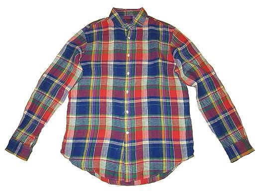 c3eda96affa5 ... germany polo ralph lauren mens plaid linen shirt large 9031e ee686 ...