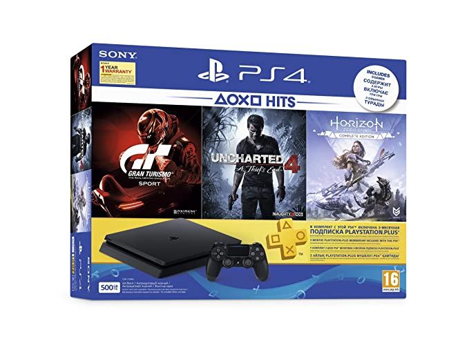 Sony PS4 500 GB Slim Console Free Games Gran Turismo