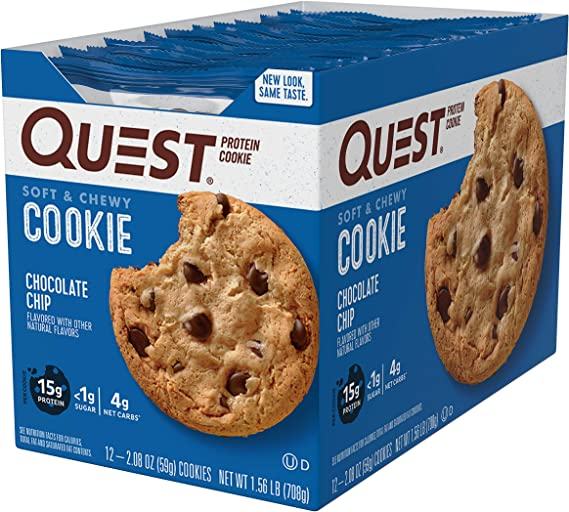Quest Nutrition Protein Cookie Chocolate Chip - 12 Barras ...