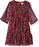 Crazy 8 Girls' Big Long Sleeve Casual Woven Dress