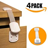 Amazon Price History for:Ella's Child Safety Locks - 4 Pack Kit | No Tools Needed - Best 3M Adhesive | Amazing for Baby Proofing Kitchen, Cabinets, Toilet, Fridge, Oven | Easy one click design | No screws & no tools | White