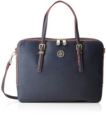 97a9dd51ac Tommy Hilfiger Honey Computer Bag, Sacs pour ordinateur portable femme,  Bleu (Tommy Navy