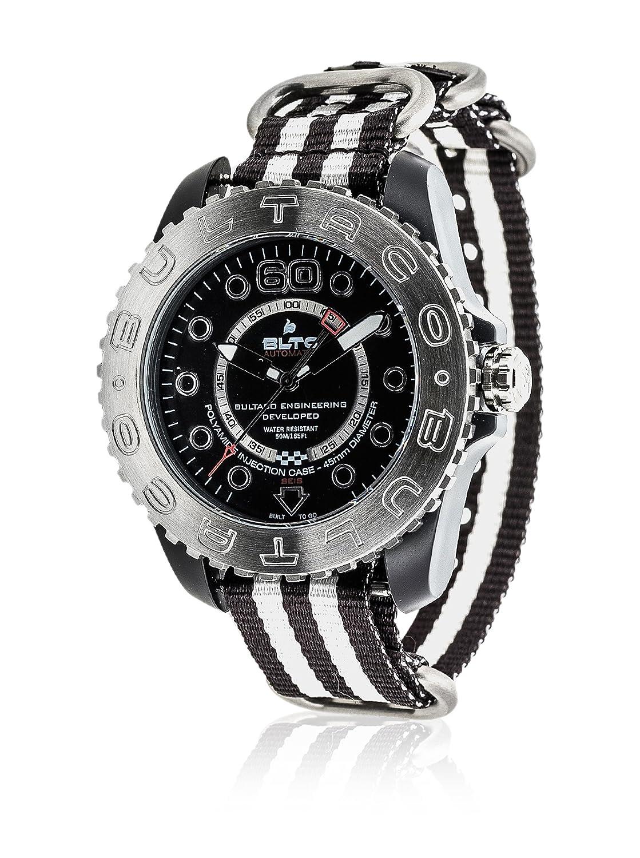 Bultaco Reloj de cuarzo BLPB45A-CB2-T2 Negro/Blanco 45.00 mm: Amazon.es: Relojes