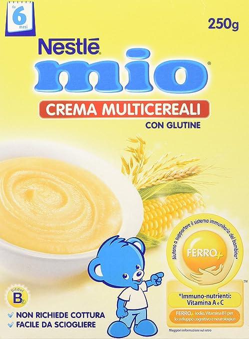 6 opinioni per Nestlé Mio- Crema Multicereali, da 6 Mesi- 3 confezioni da 250 g [750 g]