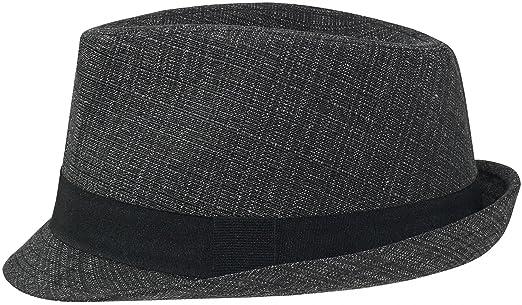 Gustav M/üller Schwarz Hut klassischer Form mit schwarzem Stoffband!