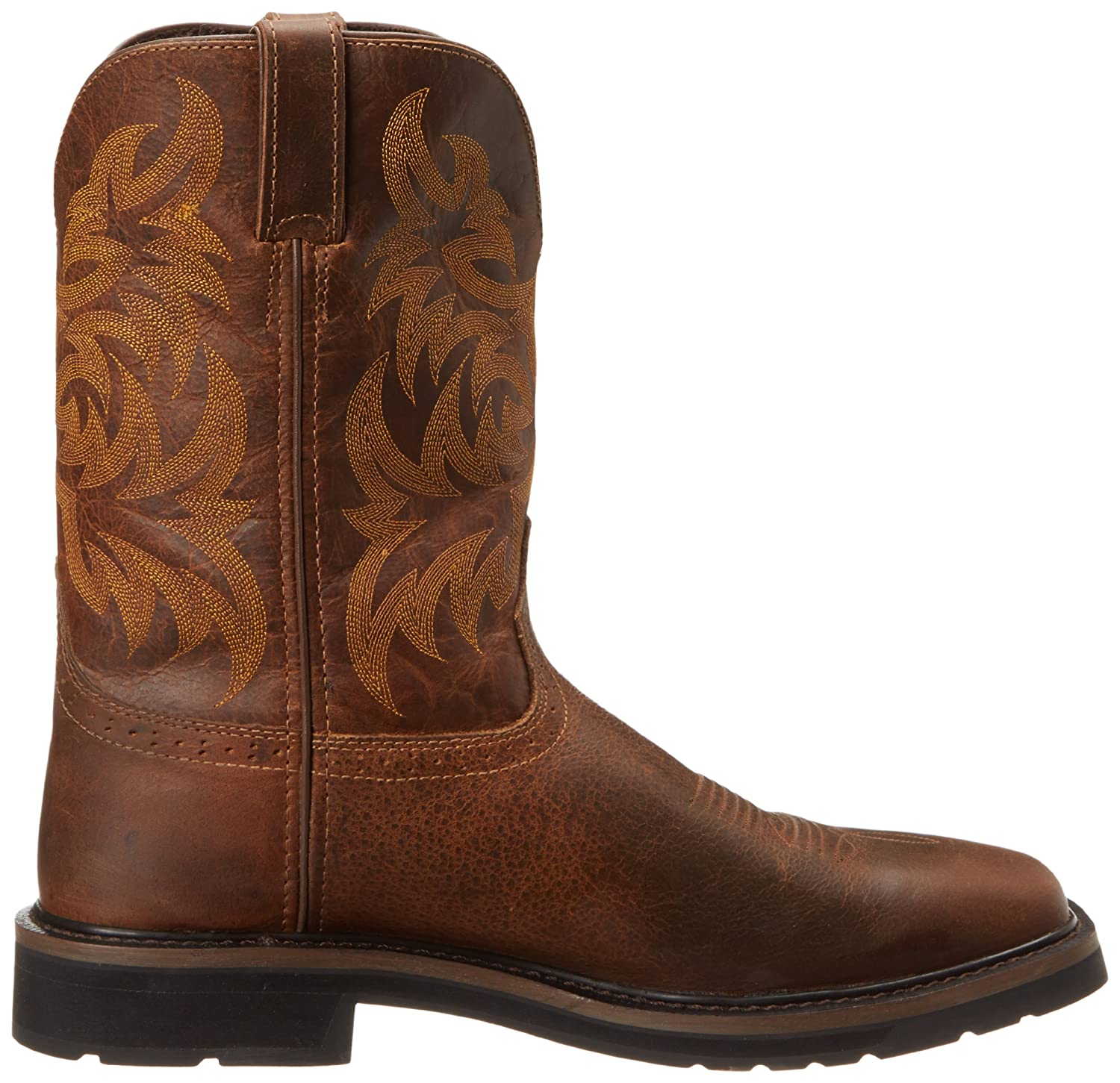 8e121f60aa1 Justin Original Work Boots Men's Stampede Pull-On Square Toe Work Boot