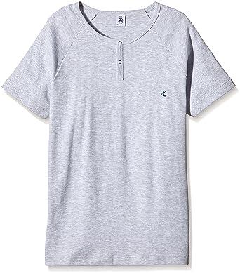 3b94d18871f Petit Bateau Baleine - T-shirt - Uni - Col ras du cou - Manches courtes -  Garçon - Gris (Poussière) - FR  24 mois (Taille fabricant  2 ans)   Amazon.fr  ...