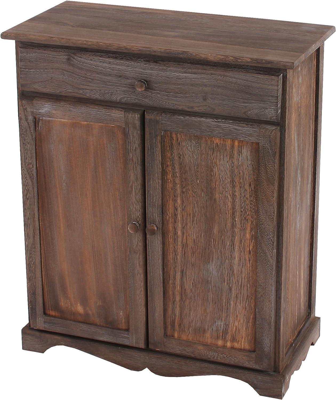 Shabby Mendler Commode//Table dappoint//Armoire Vintage 66x33x78cm Marron