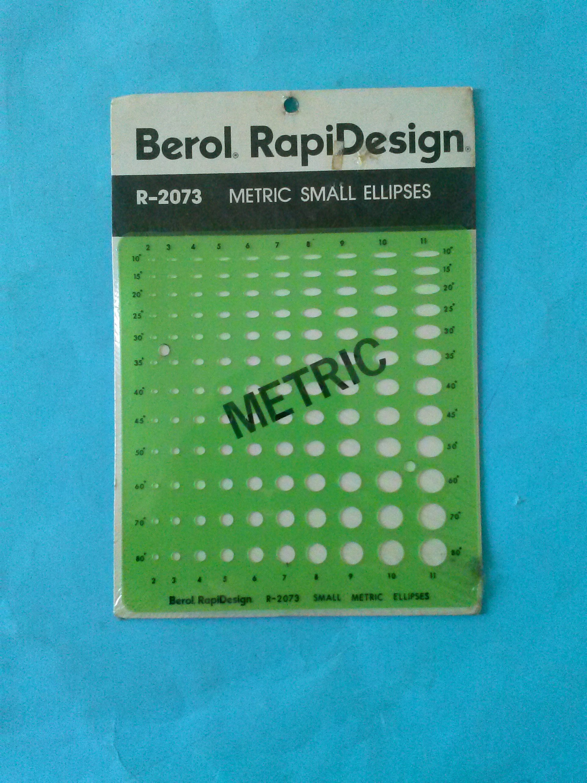 Berol RapiDesign R-2073 Metric Small Ellipses Made in USA by RAPIDESIGN (Image #1)
