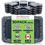 Cubeware 50-Pack Snap-Seal, Microwavable, Dishwasher and Freezer Safe, Reusable Food Storage Bento Box, Meal Prep…