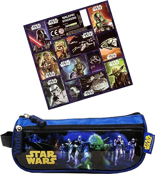 Star Wars - Estuche (21 x 9 x 5 cm, incluye 12 pegatinas): Amazon.es: Hogar