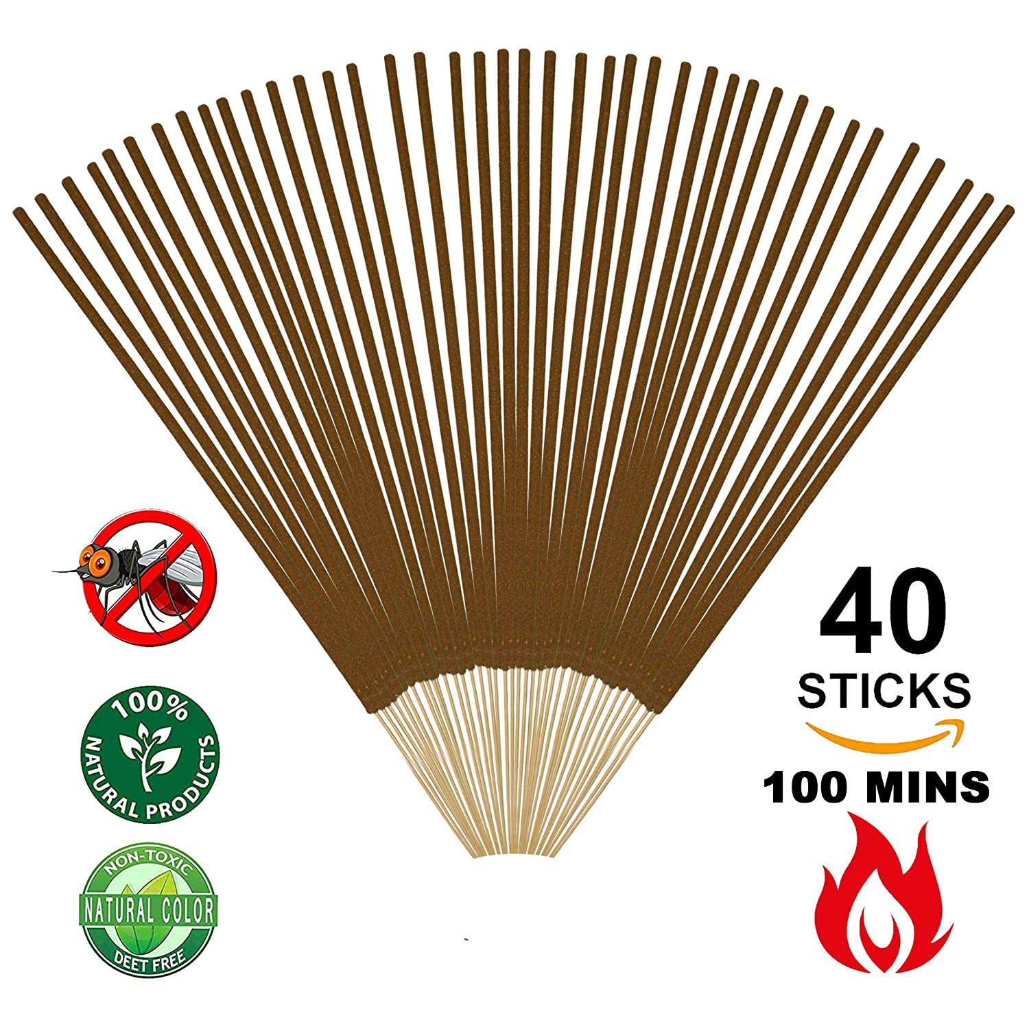 Amazon.com : Vigood Mosquito Most Flying Bugs Repellent Incense ...