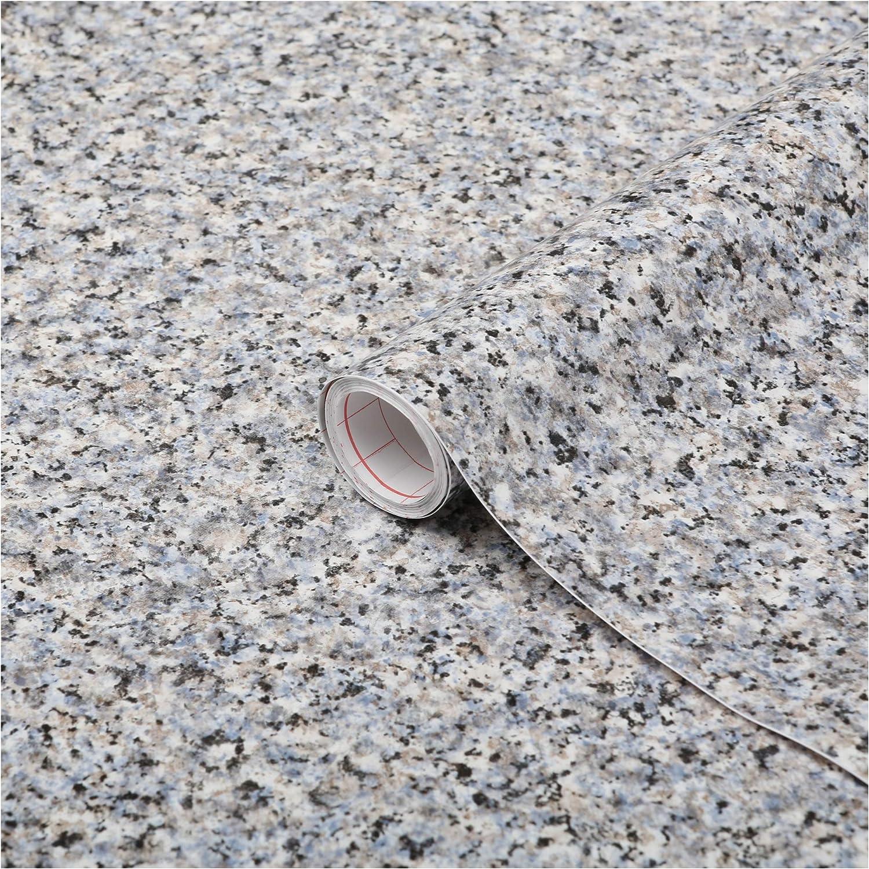 45 cm Large Speckle Granite Noir Gris Blanc Self Adhésif Sticky Back Plastic