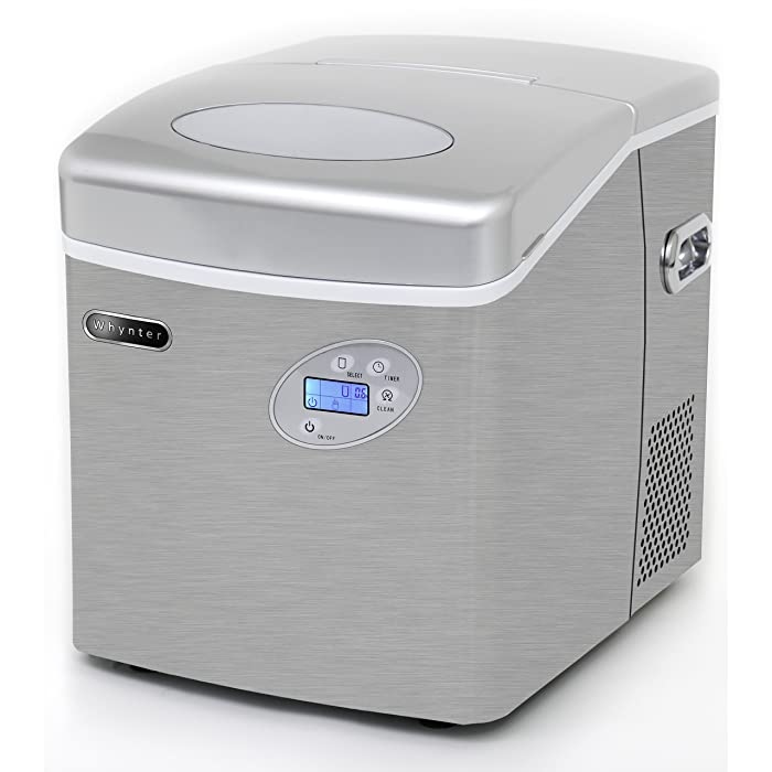 Whynter IMC-491DC Portable 49lb Capacity Stainless Steel with Water Connection Ice Makers One Size