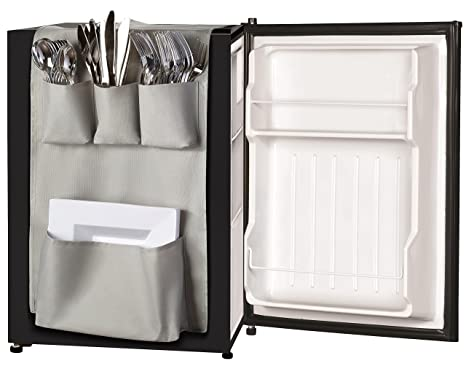 Classic Design   Over The Door Pantry Closet Organizer, Dorm And Office Over The Fridge Caddy Organizer, Storage And Paper Goods Organizer (Gray) by Glossy End