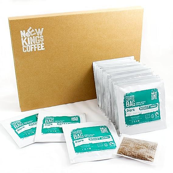 Quality Ground Coffee Bags Fairtrade Organic Single Origin 100 Arabica Dark Roast Sumatra Indonesia Se Asia Box Of 16 Individually Wrapped