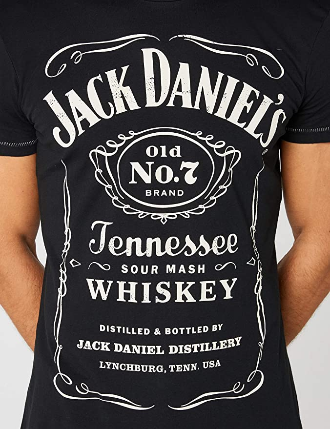 "TOP  Medium 38/"" Chest MEN/'S BLACK JACK DANIEL/'S TENNESSEE HONEY T SHIRT"